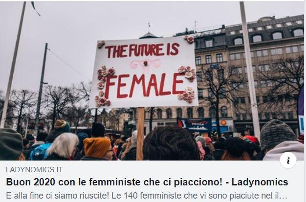 Pinzuti fra le 140 femministe